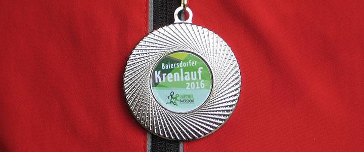 Finisher-Medaille Krenlauf 2016